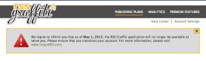 RSS Graffitiの終了